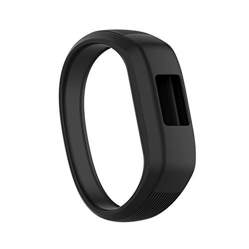 LXF JIAJU Niños Suaves Silicone Smart Watch Band Sports Reemplazo De Pulseras Pulsera Correa De Muñeca para Garmin VIVOFIT JR 2 / VIVOFIT 3 (Color : Black, Size : S)