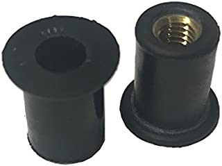 25 Rubber Well Nuts M5-.8 .554 Length 3/8