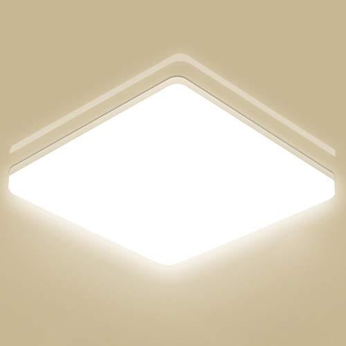 LED Deckenleuchte 15W, Oeegoo IP44 Wasserdicht Deckenlampe Badlampe, 1500LM Flimmerfrei LED Leuchte Wannenleuchte für Wohnzimmer Schlafzimmer Balkon Küche Flur Badezimmer Neutralweiß 4000K