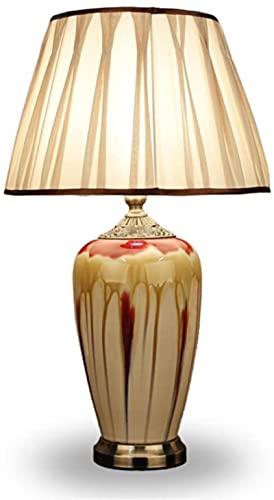 KFJZGZZ Lámparas de mesa sala de estar americano retro cerámica Sala Europea clásica minimalista creativo lámparas dormitorio mesita de noche lámpara E27