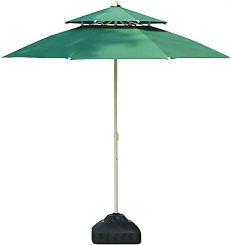 XHPC Sombrilla de jardín, Sombrilla de Patio de Doble Techo PP de 7.5 pies / 9 pies para jardín al Aire Libre, Sombrilla de Exterior para sombrillas de Playa/Piscina/jardín Protecto