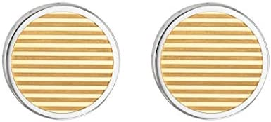 TOMMY HILFIGER MEN'S TWO TONE STAINLESS STEEL CUFFLINKS -2790094