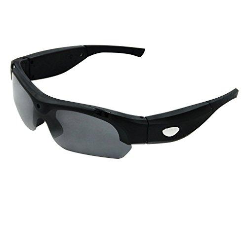 Vídeo Cámara Gafas de Sol+Tarjeta SD de 8GB, Zimingu HD 1080P 5MP Grabación Gafas Videocámara Gafas DVR Videocámara de para Conducir Deportes al Aire Libre(Negro)
