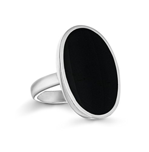 Tuscany Silver Damen Oval Onyx Ring Sterling Silber  23mm x 15mm P