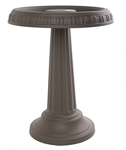 Bloem Grecian Bird Bath with Pedestal, 24' x 19', Peppercorn (BB2-60)