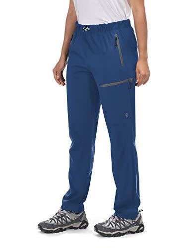 Little Donkey Andy Women's Lightweight Quick Dry Cargo Hiking Pants UPF 50+ Stretch Travel Pants Deep Blue L