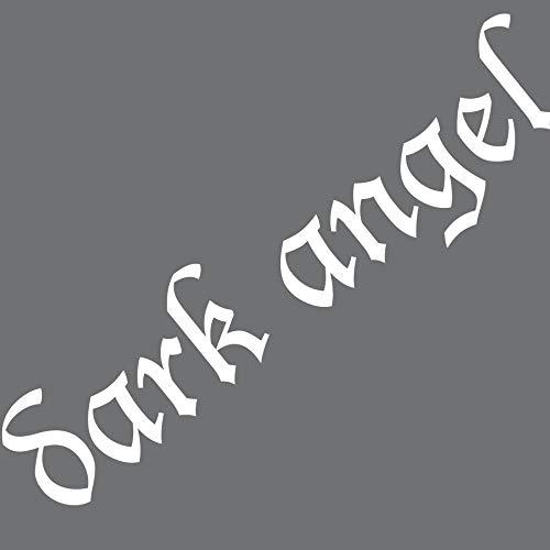 GreenIT Aufkleber 50cm Dark Angel Schriftzug Tattoo Wandtattoo Auto Deko Klebefolie (weiß)