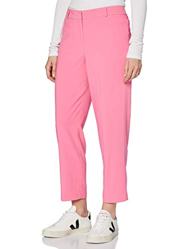 FIND Pantalón Recto Tobillero de Traje Mujer, Verde (Green), 42 (Talla del fabricante: Large)