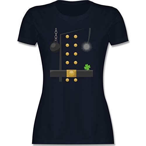 Karneval & Fasching - Schornsteinfeger Kostüm - XXL - Navy Blau - Verkleidung Kostüm - L191 - Tailliertes Tshirt für Damen und Frauen T-Shirt