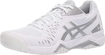 ASICS Women's Gel-Challenger 12 Tennis Shoes, 9.5, White/Silver