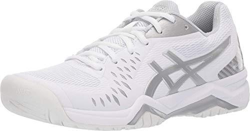 ASICS Women's Gel-Challenger 12 Tennis Shoes, 10M, White/Silver