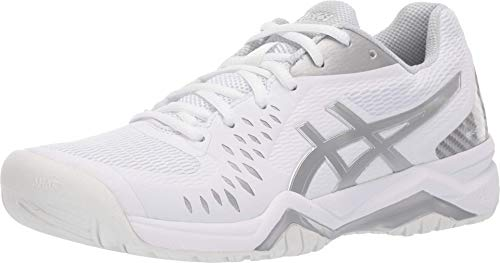 ASICS Women's Gel-Challenger 12 Tennis Shoes, 7M, White/Silver