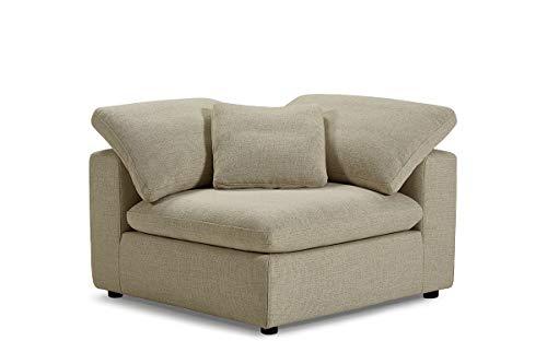 Módulo sofá tejido beige compostable, relleno pluma – Colección Nature & Confort Premium – Nuage