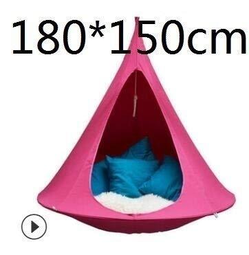 HXIANG Kids Volwassenen tent camping kusboom zijde kokosschommel stoel hangmat tent sofa meubels terras binnen en buiten