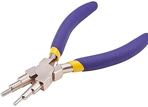 Conocimos Alicates 6 en 1 para bisutería, alicate redondo para anillos de alambre, herramienta de artesanía, alicates de acero al carbono, 145 mm de longitud