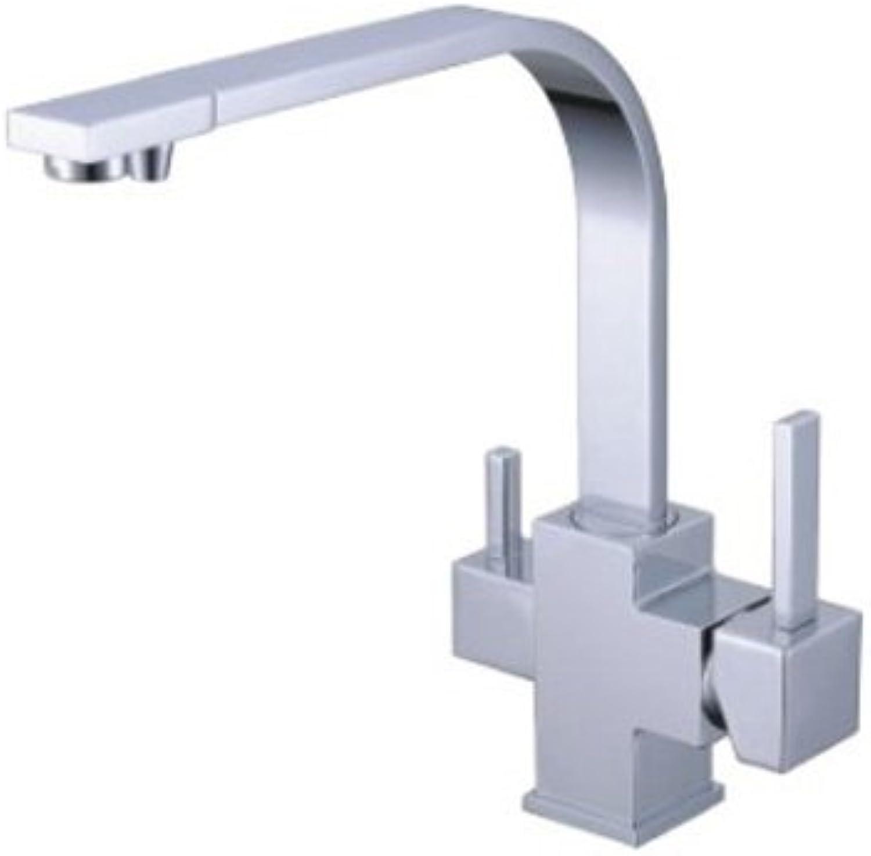 3-Wege-Armatur ESCLUSIVO L-Auslauf Chrom für AMWAY eSpring Wasserfilter geeignet  Küchenarmatur , Spültischarmatur , Mischbatterie , Dreiwege Wasserhahn