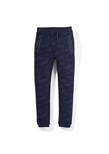 s.Oliver Jungen Regular Fit: Cozy Slim Leg-Jogpants Dark Blue AOP 176.REG