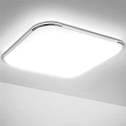 Hengda Led Deckenleuchte Kaltweiss 36W Deckenlampe Wohnzimmer Bad Modern Lampen für Schlafzimmer Badezimmer Küche Flur Kinderzimmer Büro, IP44 3240LM