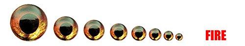 Fish Skull Living Eyes 8.5MM, Fire (Orange-Red)