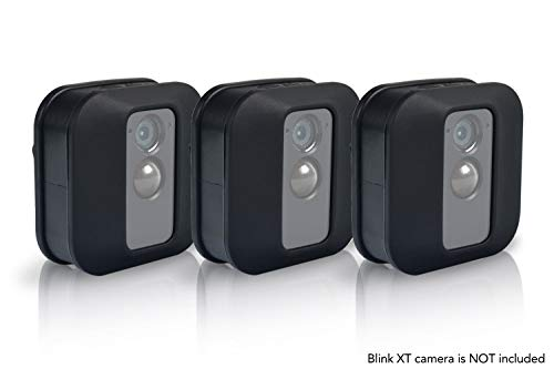 Silicone Covers Skins for Blink XT 2 Security Camera (3 pcs Black) - Silicon Case for Blink Home Security - Anti-Scretch Protective for XT2 Cam - Indoor Outdoor Best Blink XT 2 Accessories by SULLY
