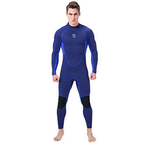 AIni Herren Wetsuit Neoprenanzug Surfen ,Wetsuit Schwimmen Surfanzug Surfen Tauchen Sport Badeanzug 3MM Ganzkörperanzug Super-Stretch-Tauchanzug Schwimmen Surfen Schnorcheln(XL,Blau)
