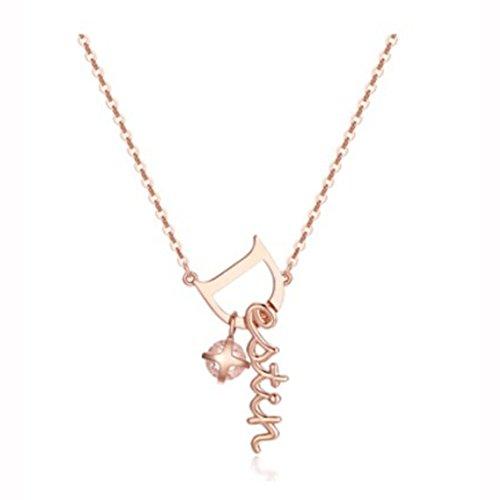 KEM Goblin rosa Color Dorado placa 925plata collar destino plata cúbicos Plata TVN Corea Drama TV Star 'Kim Go Eun' dokkebi collar