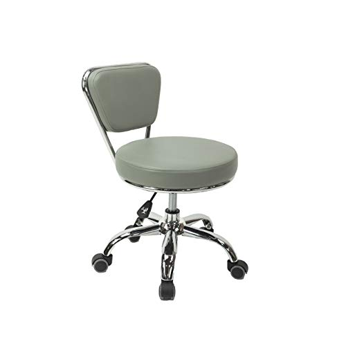MAYAKOBA Dayton Garage Rolling Seat (Storm Grey) Pneumatic, Short Stool with Adjustable Height 13'-15', Perfect for Garage Task, Home Cleaning, Bathroom Short Seat, Technician Task