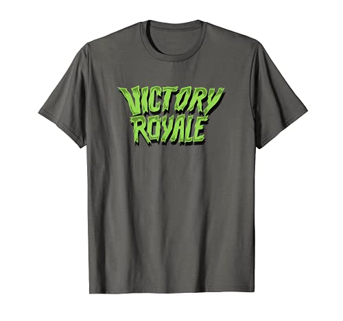 Fortnite Victory Royale Scary Font Camiseta