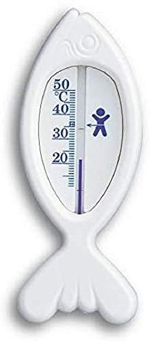 TFA Dostmann FISCH Analoges Badethermometer, 14.3017.02, erhöht den Badekomfort, BPA-frei, hergestellt in Deutschland, weiß