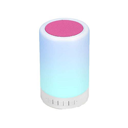 WENLONG Altavoz Bluetooth Touch Led Lampara De Luz De Noche Bluetooth Altavoz Beat Sonido Wireless Bluetooth Speaker