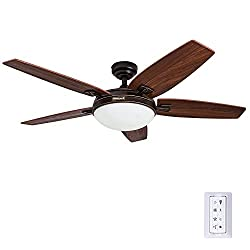 professional 48-inch Honeywell Carmel ceiling fan, integrated lighting set and remote control, 5…