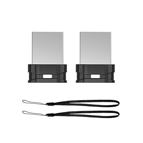 64GB 2 Pack USB Flash Drive K&ZZ Ultra Slim Thumb Drive Memory Stick USB Drive Data Stick Expansion Disk with Black Portable Lanyard (64 GB, 2 Pack Bundle)