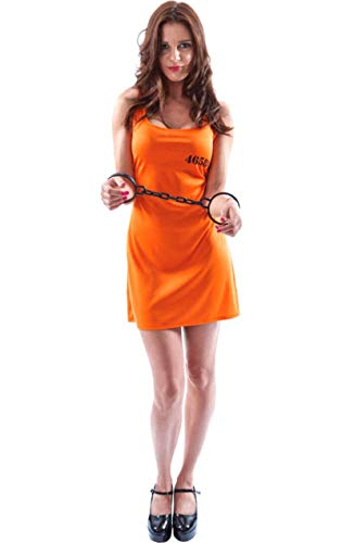 ORION COSTUMES Damen Orange Sexy Sträfling Maskenkostüm