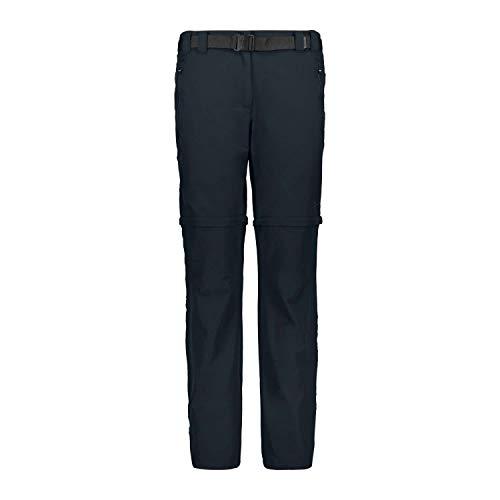 CMP Zip off Dry Function Trousers, Pantaloni Donna, Blue, 46