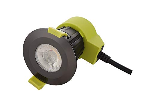 Inspired Dlux - Bazi - Dimmable LED Recessed Downlight, Black Chrome, 38 deg. Beam Angle, 840lm, 5000K, IP65, Driver Included