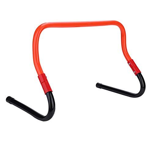 Pwshymi Vallas de Entrenamiento de Velocidad de fútbol con Vallas Altura Ajustable 15/30 cm Accesorio de Entrenamiento de Agilidad de Velocidad de fútbol(Rojo y Negro)