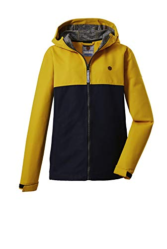 Killtec Jungen Visby BYS Softshell JCKT Softshelljacke mit Kapuze, gebranntes gelb, 128