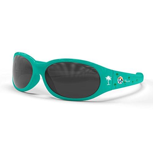 Chicco – elastyczne okulary przeciwsłoneczne dla dzieci i szkła zapobiegające zarysowaniom, 12 miesięcy i w górę, różowe lub zielone okulary przeciwsłoneczne 80 cm zielone