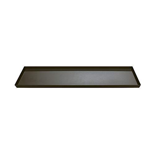 Grafelstein Tablett Samara antikbraun braun Metall länglich Kerzentablett Gewürztablett 40cm
