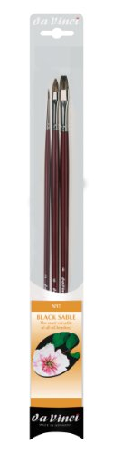 DA VINCI 5015 Series Juego de Pinceles para Pintura al óleo, Cerdas, Marrón/Negro/Blanco, 30 x 30 x 30 cm