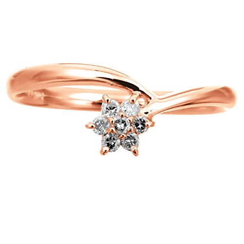 [ココカル]cococaru ダイヤ リング ダイヤモンドリング ダイヤモンド 指輪 レディース 18金 18k K18 ゴールド イエローゴールド ピンクゴールド ホワイトゴールド ギフト 贈り物 記念日 プレゼント 日本製(ピンクゴールド 11)