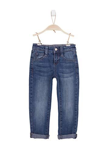 s.Oliver RED LABEL Jungen Slim Fit: Slim leg-Denim mit 5-Pocket-Form blue stretched den 140.REG