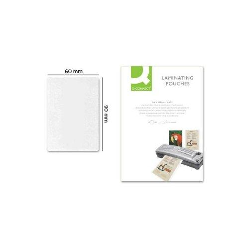 Q-Connect - Bolsa De Plastificar 90 X 60 Mm 200 Mc Carnet De Nif Caja De 100 Unidades