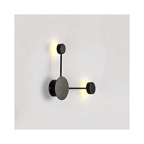BDZQS Postmodern Wandleuchte Led-Wohnzimmer-Wand-Lampen-Schlafzimmer Nachttischlampe Aisle Beleuchtung (Lampe nicht im Lieferumfang enthalten) (Farbe : Warm light-005)
