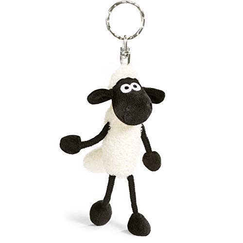 NICI Porte-clés Shaun Le Mouton 10 cm 33098 Noir / Blanc