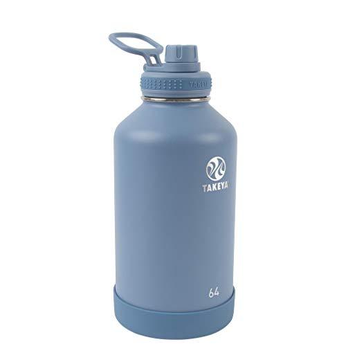 Takeya Garrafa de água isolada Actives com tampa de bico, Bluestone, 1,8 l