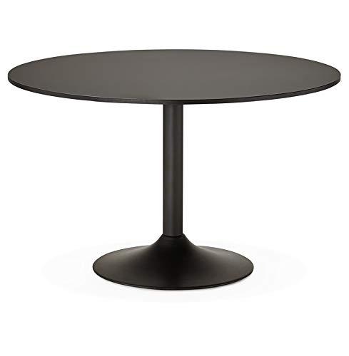 Alterego - Table de Bureau/à Diner Ronde 'Atlanta' Noire - Ø 120 cm