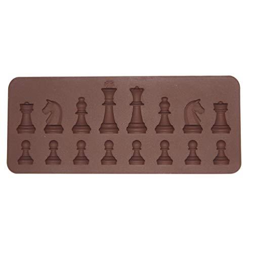 Angoily Molde de Silicona de Ajedrez Pieza de Ajedrez 3D Molde de Silicona Chocolate Caramelo Fondant Molde para Decorar Pasteles