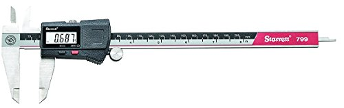 """Starrett EC799A-8/200 Electronic Caliper, Stainless Steel, 0.01mm (0.0005"""") Resolution and 0-200 mm (0-8"""") Measuring Range"""