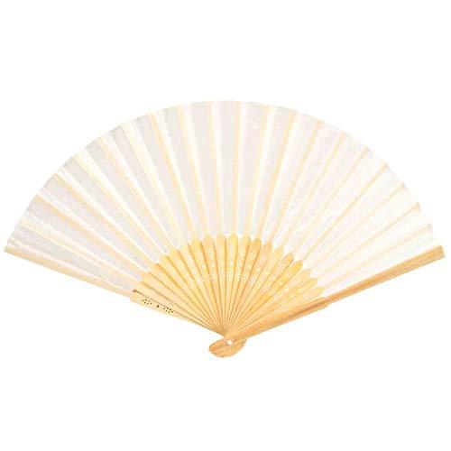 Lote de 15 Elegantes Abanicos de Bambú y Tela Color Beige. Complementos....